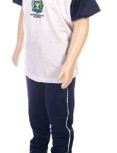 Conjunto uniforme escolar, calça e camiseta escolar, jandaia do sul