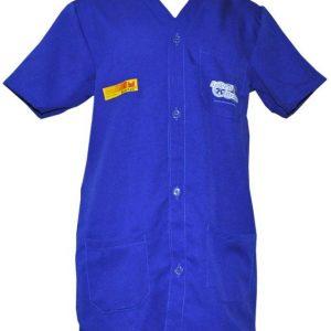 Uniforme Profissional, Jaleco Azul longo, manga curta, jandaia do sul