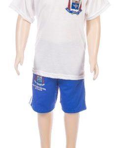 Conjunto uniforme escolar, short e camiseta escolar, jandaia do sul